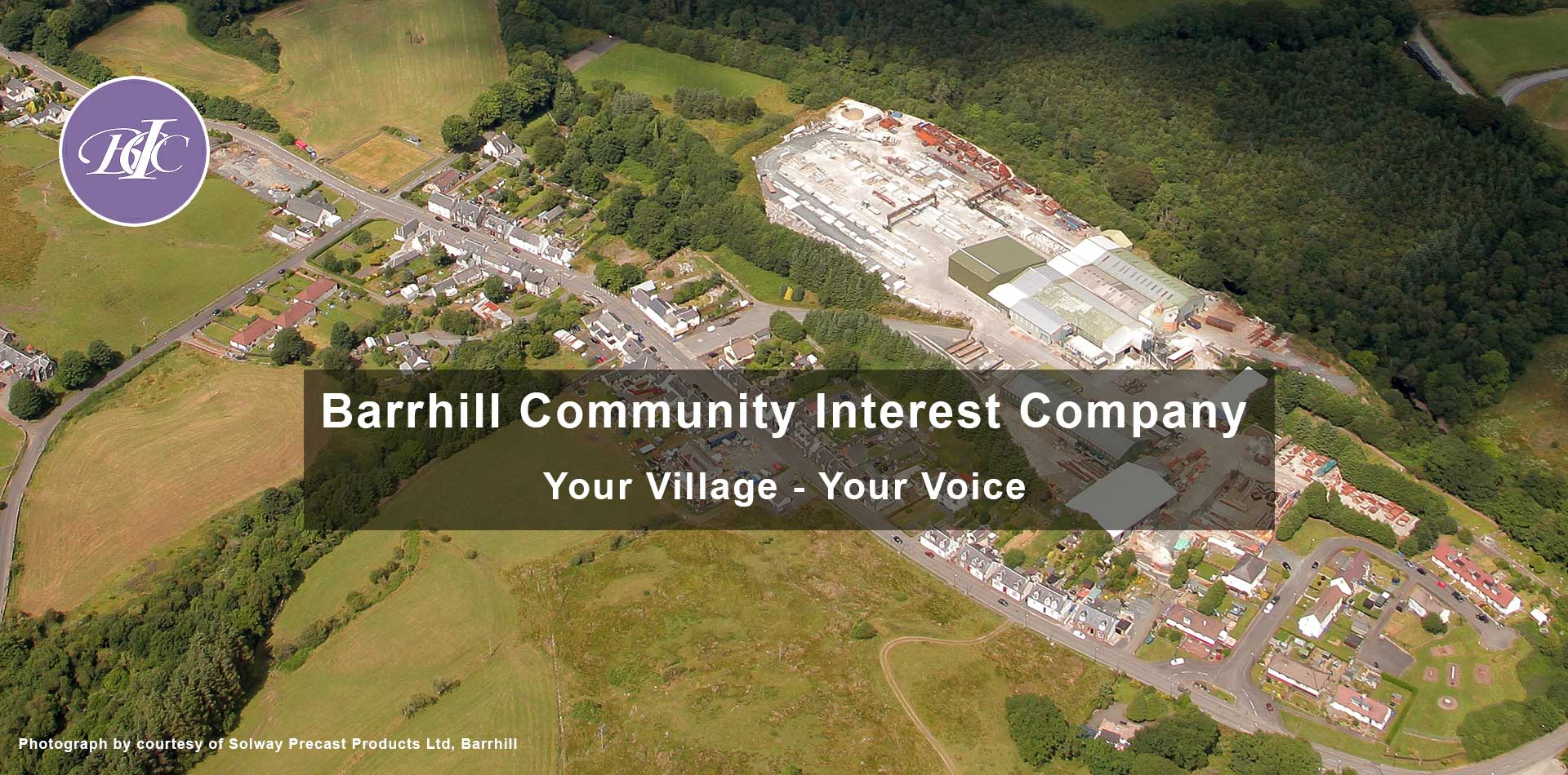 Aerial view of Barrhill